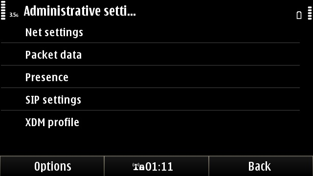 Finding the SIP settings on any Symbian^3 phone