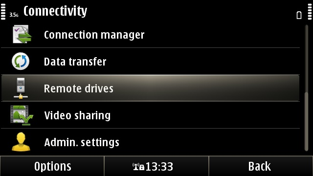 Connectivity options in Symbian^3