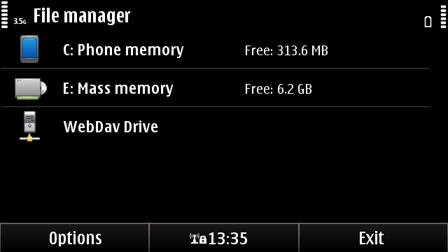 Mounting a network drive in Symbian