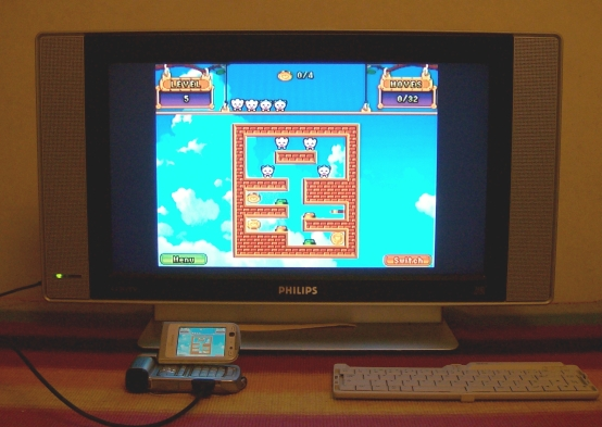 Flurkies on an N93 through a television