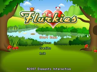 Flurkies title screen