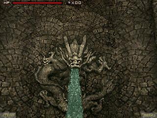 Lament Island dragon fountain