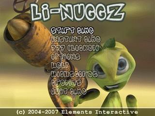 Li-Nuggz title screen