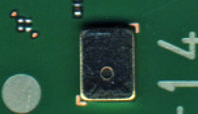 MEMS microphone on the N8's motherboard