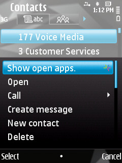Open apps