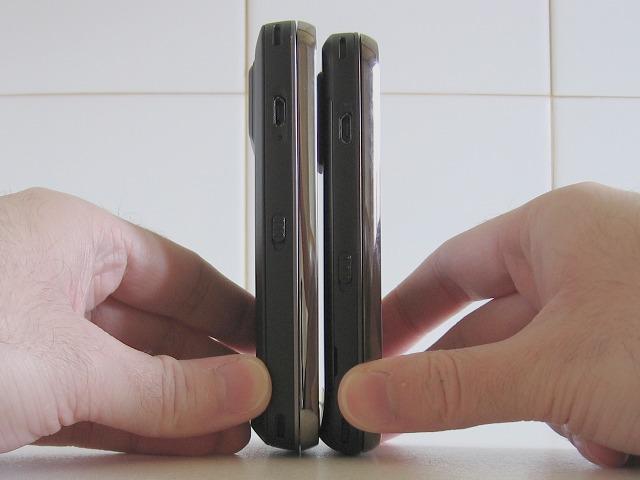 N97 Classic vs N97 Mini - Height & thickness