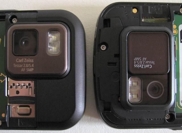N97 Mini camera module vs N97 Classic camera module