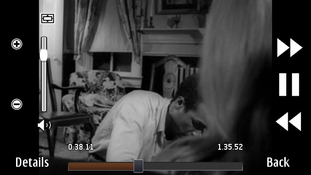 Night of the Living Dead, streaming via the Symbian video player