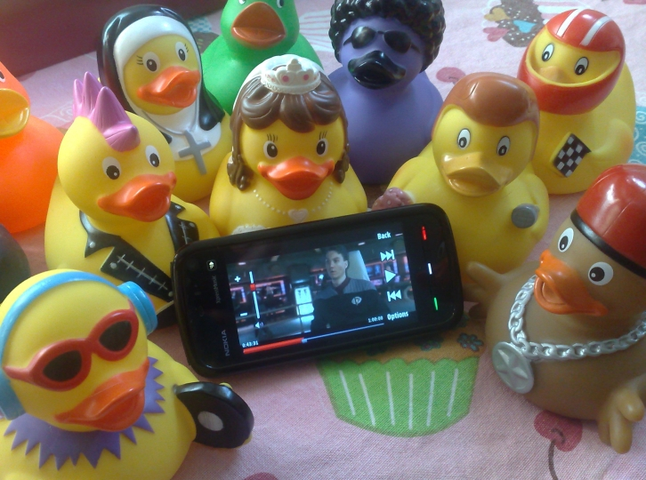 Nokia 5800 XpressMusic with some rubber ducks