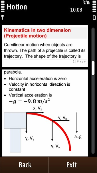 Physics Reference - Kinematics in two dimensions