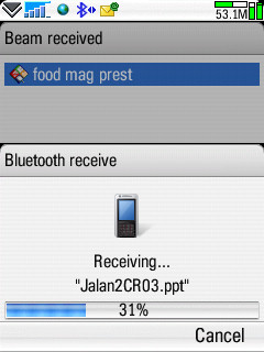 Receiving file