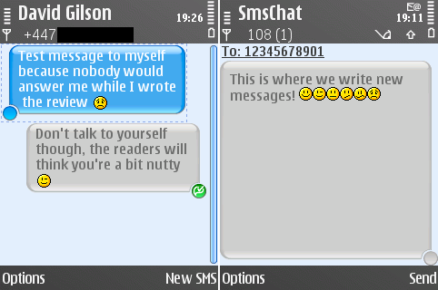 Reading & composing messages in SMS Chat
