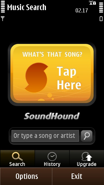 SoundHound's main button