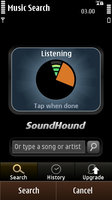 SoundHound's ten second sample timer