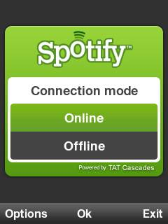 Starting up Spotify on S60 3rd Edition
