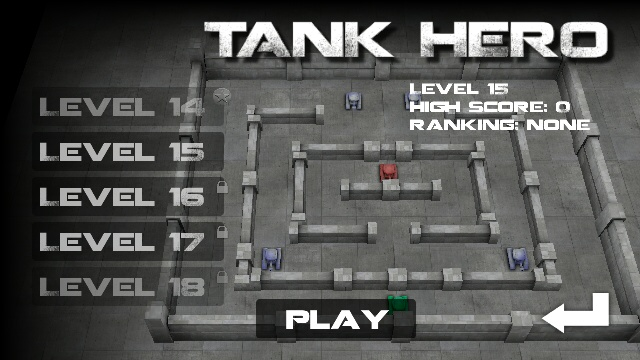 Unlocking levels in Tank Hero's Campaign mode