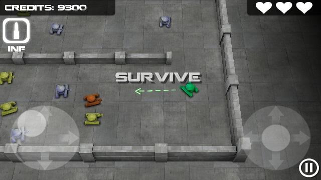 Beginning a Survival round in Tank Hero