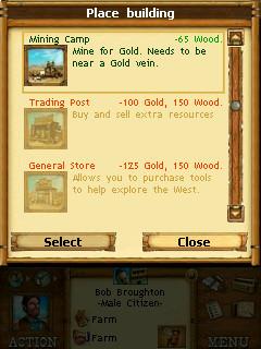 Buildings menu
