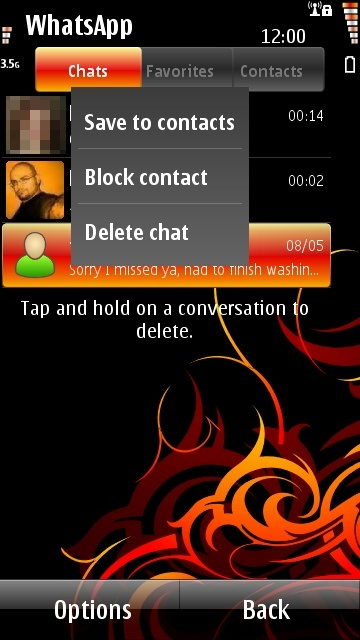 Contact management, including blocking contacts