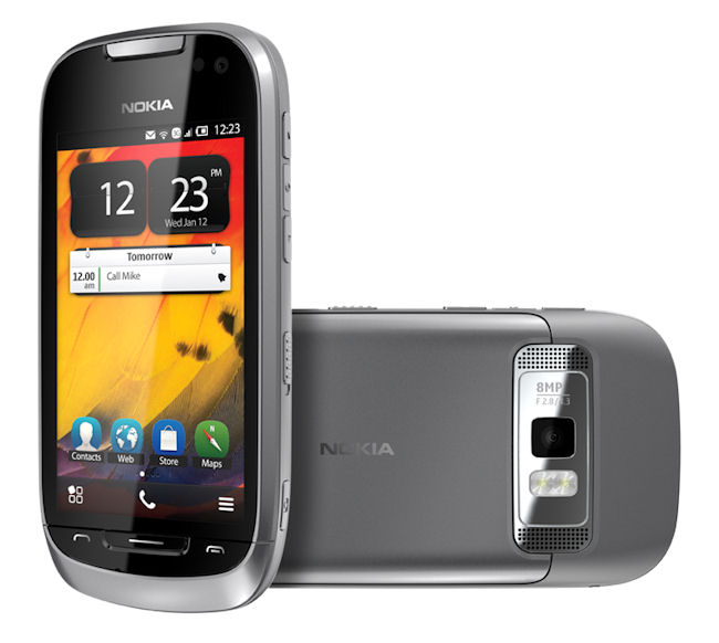 gambar foto harga Nokia 701 Symbian layar sentuh baru bekas, fitur spesifikasi ponsel handphone Symbian Belle layar sentuh kapasitif, kelemahan kekurangan dan kelebihan desain Nokia 701, hp tipis ada 3G/HSDPA dan WiFi GPS