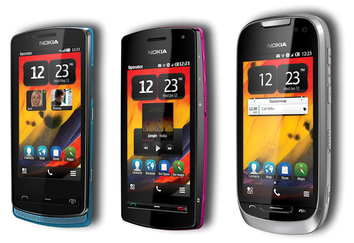 Nokia Symbian Belle devices