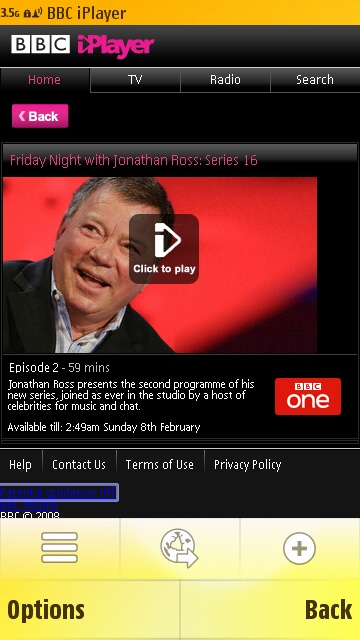 BBC iPlayer now available in Download! for the Nokia 5800