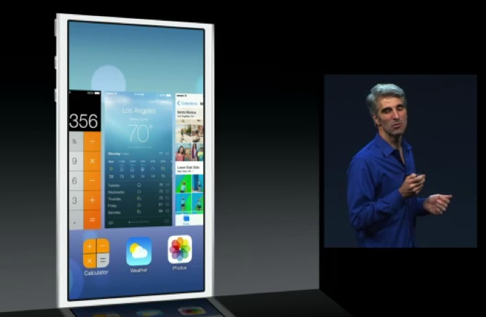 Apple iOS 7 announcement screen