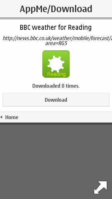 Screenshot, AppMe