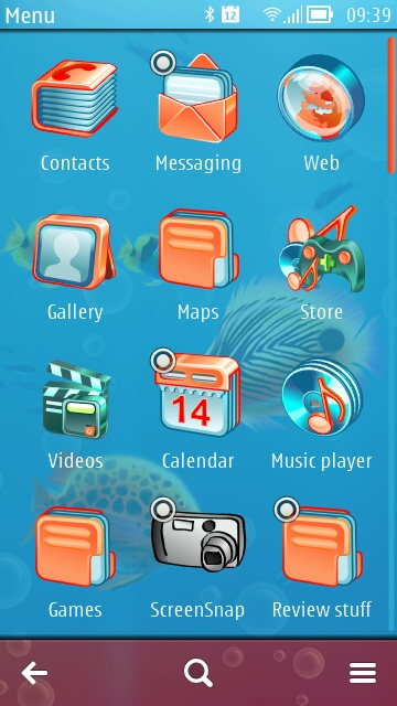 Screenshot, Aqua World theme