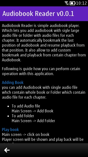 Screenshot, Audiobook Reader