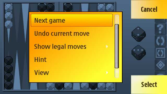 Screenshot - Backgammon Pro II on the 5800