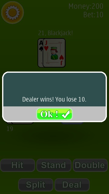 Screenshot, Blackjack