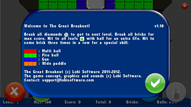 Screenshot, The Great Breakout