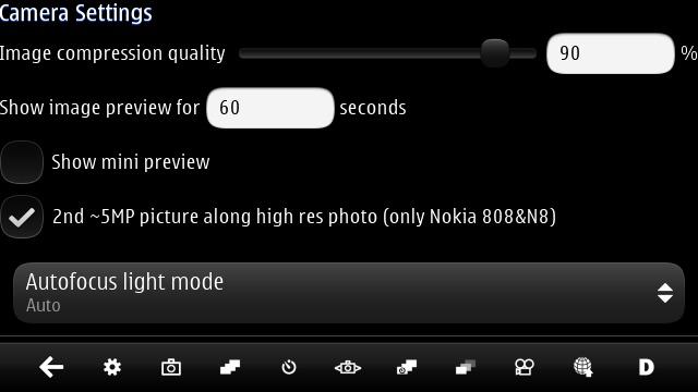 Screenshot, CameraPro Qt