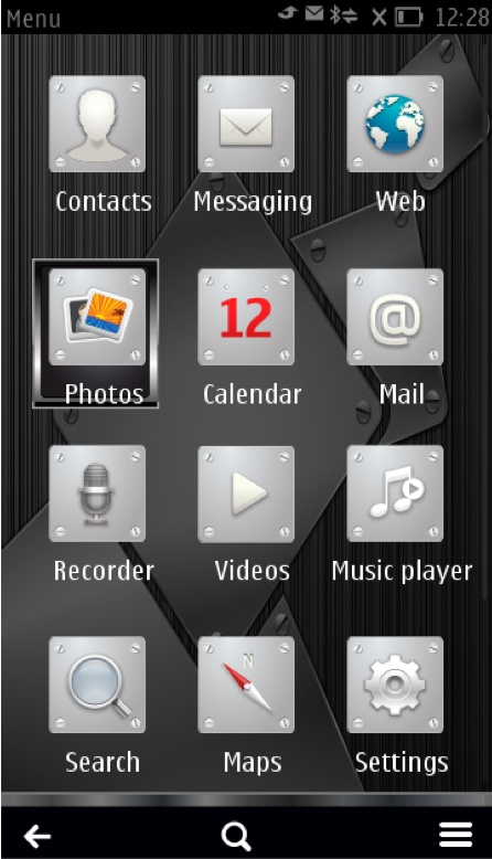 Screenshot, Metal Steel theme