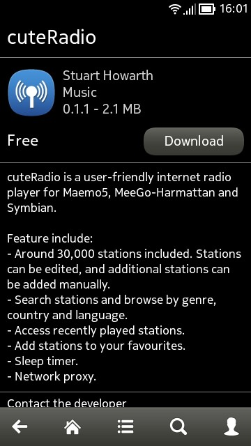 cuteRadio screenshot