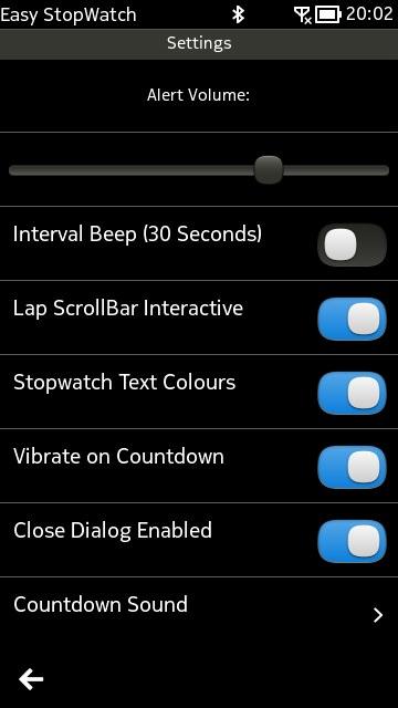 Screenshot, Easy StopWatch