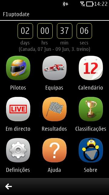 Screenshot, F1uptodate
