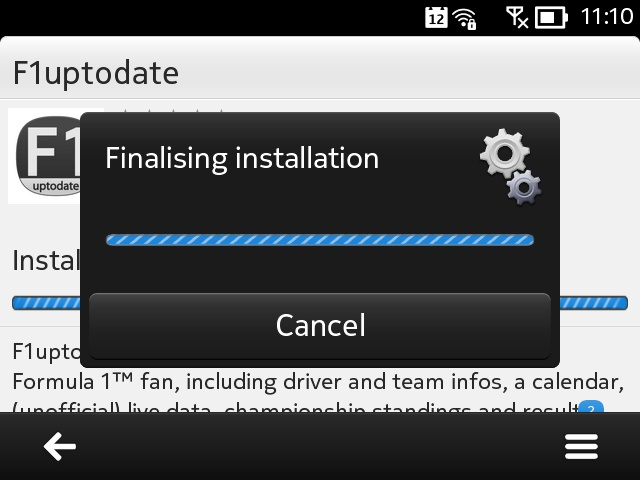 F1uptodate screenshot on the E6