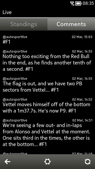 F1uptodate screenshot