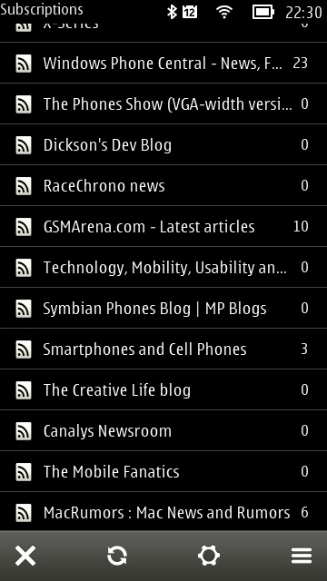 gNewsReader - the Feedly generation - screenshot