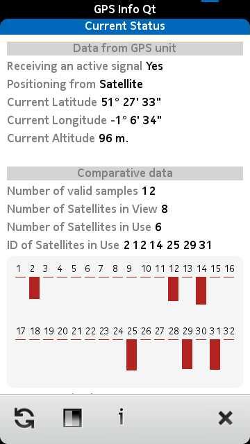 Screenshot GPS Info Qt