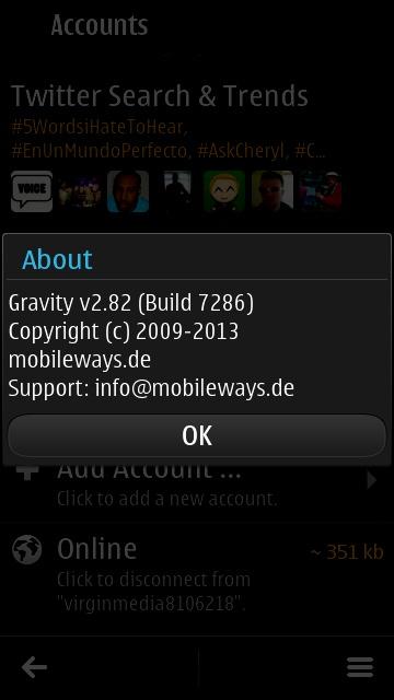 Latest Gravity screenshot
