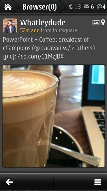 Gravity social image browsing screenshot