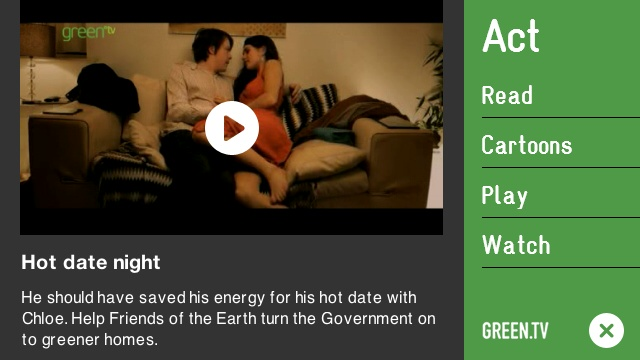 Screenshot, Green.tv