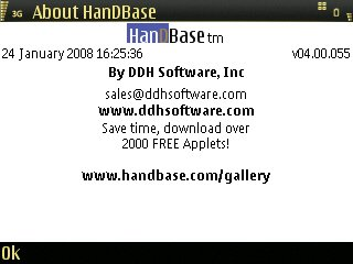 HanDBase 4 screenshot