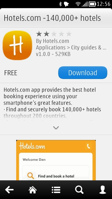Screenshot, Hotels.com
