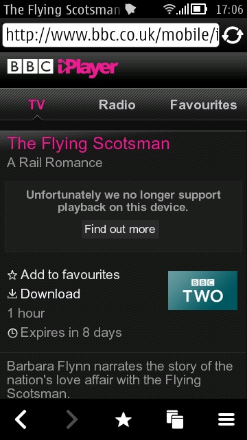 Screenshot, BBC iPlayer