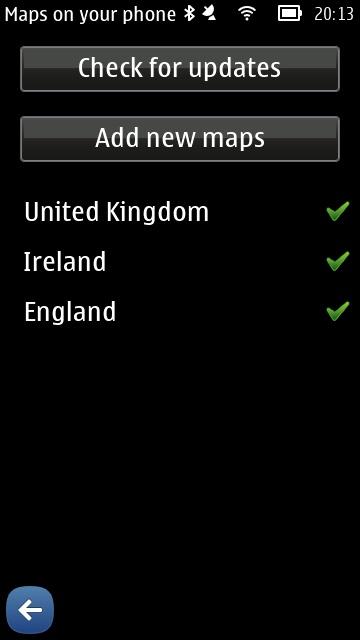 Screenshot, updating maps