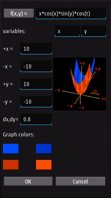 Screenshot, MathGraphica3D